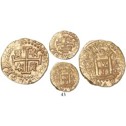 Lima, Peru, cob 2 escudos, 1710H, from the 1715 Fleet.