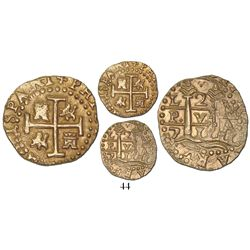 Lima, Peru, cob 2 escudos, 1711M, from the 1715 Fleet.