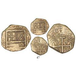 Bogota, Colombia, cob 2 escudos, (1)646R, very rare, ex-Santa Fe collection.