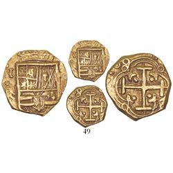 Bogota, Colombia, cob 2 escudos, 168(?)(G), mintmark NR to left.