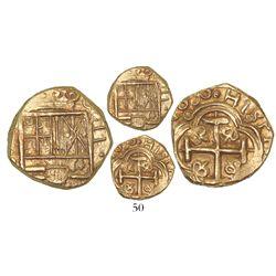 Bogota, Colombia, cob 2 escudos, 1690G, rare.