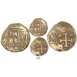Bogota, Colombia, cob 2 escudos, 1733M.