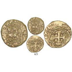 Bogota, Colombia, cob 2 escudos, 1735M, ex-Santa Fe collection.