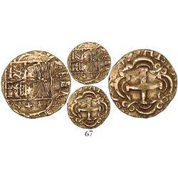 Bogota, Colombia, cob 2 escudos, (17)49, assayer S-R, very rare.