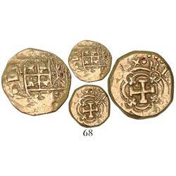 Bogota, Colombia, cob 1 escudo, Philip V, assayer S, no date in design (rare).
