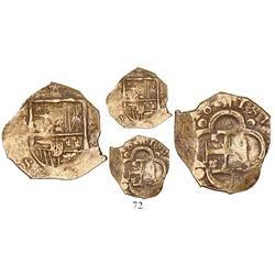 Seville, Spain, cob 2 escudos, (16)16, assayer not visible, rare (unlisted) date.