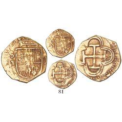 Seville, Spain, cob 1 escudo, Philip III, assayer B.