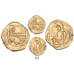 Seville, Spain, cob 1 escudo, Philip III, assayer V.