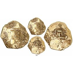Seville, Spain, cob 8 escudos, Charles II, assayer not visible.