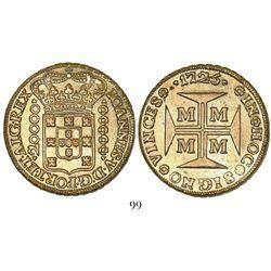 Brazil (Minas mint), 20000 reis, Joao V, 1725-MMMM.