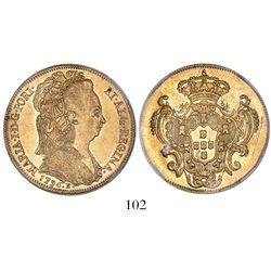 Brazil (Rio mint), 6400 reis, Maria I, 1796-R, encapsulated NGC AU 53.