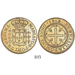Brazil (Bahia mint), 4000 reis, Maria I, 1804.