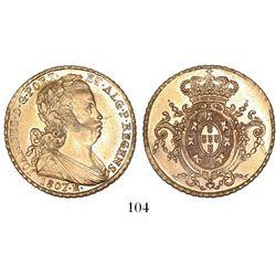 Brazil (Rio mint), 6400 reis, Joao Prince Regent, 1807-R.