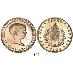 Brazil (Rio mint), 6400 reis, Pedro II (young bust), 1832-R.