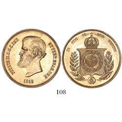Brazil, 20000 reis, Pedro II, 1853.