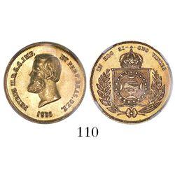 Brazil, 5000 reis, Pedro II, 1855, encapsulated NGC MS 62.