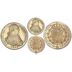 Bogota, Colombia, bust 8 escudos, Ferdinand VII (bust of Charles IV), 1813/2JF, encapsulated NGC MS