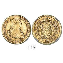 Popayan, Colombia, bust 1 escudo, Ferdinand VII (bust of Charles IV), 1816FR, mintmark PN, encapsula