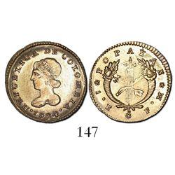 Popayan, Colombia, 1 escudo, 1824FM.