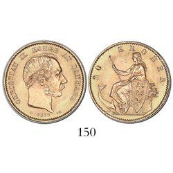 Denmark, 20 kroner, Christian IX, 1873.