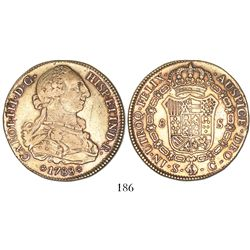 Seville, Spain, bust 8 escudos, Charles III, 1788C.