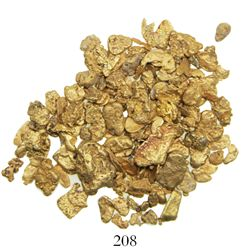 Lot of 29.07 grams of small gold nuggets from a river in the Dominican Republic.