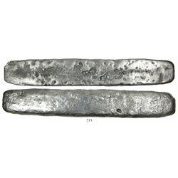 Thin silver bar #922, 1568 gramsfineness IIUCCCLXXX (2380/2400) from the Atocha (1622)Fisher photo-c