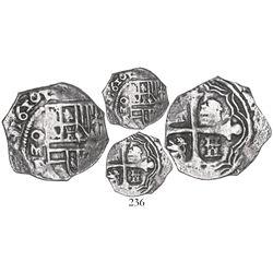 Mexico City, Mexico, cob 1 real, 1620/19D, Grade 1, very rare.