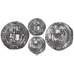 Lima, Peru, 2 reales, Philip II, assayer R (Rincon) to right (very rare), motto PL-VSV-L, obverse le