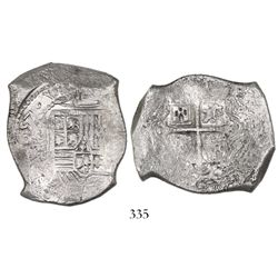 Mexico, cob 8 reales, (1)657(P), choice.