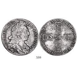 London, England, crown, William III, 1696, ex-Sebring.