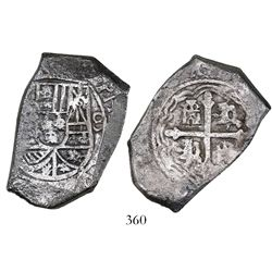 Mexico City, Mexico, cob 8 reales, Philip V, assayer not visible, ex-Jaggers collection.
