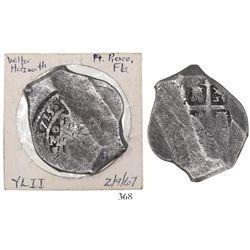 Mexico City, Mexico, cob 8 reales, 1715J, ex-Walter Holzworth.