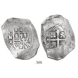Mexico City, Mexico, cob 8 reales, (1)72(9)R.
