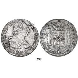 Potosi, Bolivia, bust 8 reales, Charles III, 1776JR, desirable date.