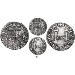 "Mexico City, Mexico, 1 real, Charles-Joanna, ""Early Series,"" assayer F/P to right, quatrefoils in le"