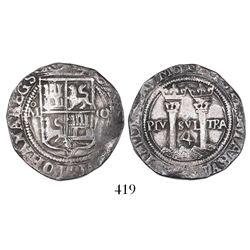 "Mexico City, Mexico, 4 reales, Charles-Joanna, ""Late Series,"" assayer O to right, mintmark oM to lef"