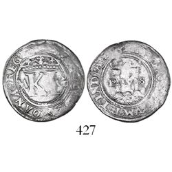 "Mexico City, Mexico, 1/2 real, Charles-Joanna, ""Late Series,"" assayer G to right, mintmark M to left"