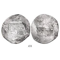 Mexico City, Mexico, cob 8 reales, (1)614/3(F), very rare.