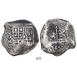 Mexico City, Mexico, cob 8 reales, 1625/4D, very rare.