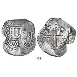 Mexico City, Mexico, cob 8 reales, (16)53/2P.