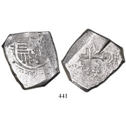 Mexico City, Mexico, cob 8 reales, Charles II, assayer L, ex-Pasay hoard.