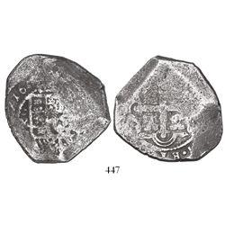 Mexico City, Mexico, cob 8 reales, (1)716J, rare.