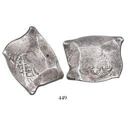 Mexico City, Mexico, cob 8 reales, 1722J, rare.