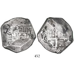 Mexico City, Mexico, cob 8 reales, (1)726D, rare.