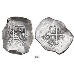 Mexico City, Mexico, cob 8 reales, 1729R.