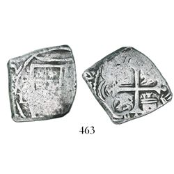 Mexico City, Mexico, cob 4 reales, (1)692L, very rare.