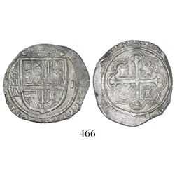 Mexico City, Mexico, cob 2 reales, Philip III, assayer A.