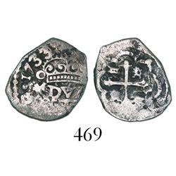 Mexico City, Mexico, cob 1/2 real, 1733/2(F), rare.