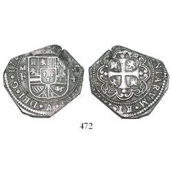 Mexico City, Mexico, klippe 4 reales, 173(3-4)MF.